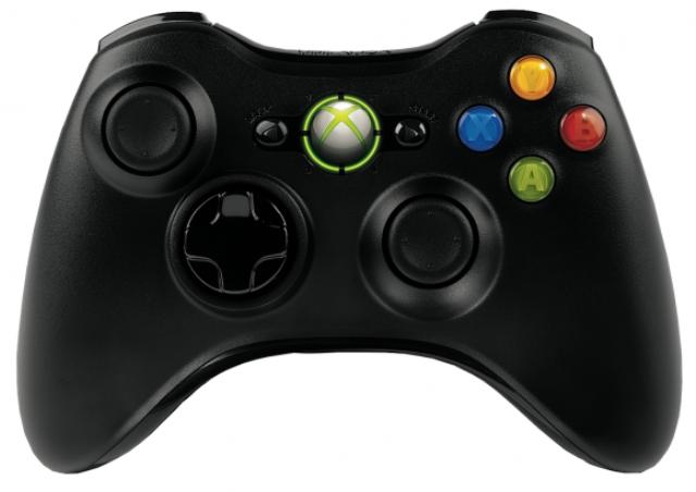 Black Xbox 360 Controller
