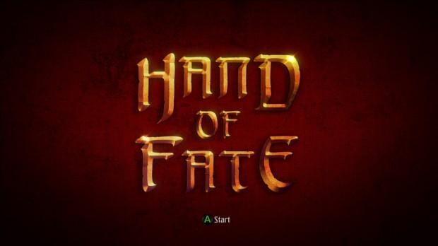 Hand of Fate start screen