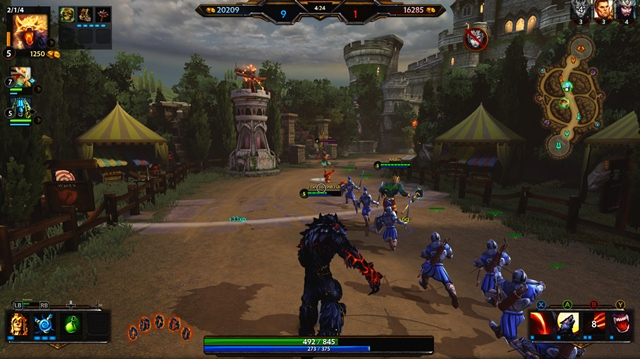 Smite on Xbox One Towers