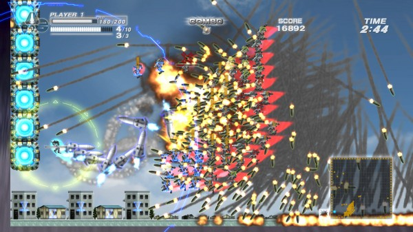 Try to count the missiles in this Bangai-HD screenshot