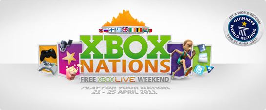 Free European Xbox Live weekend for world record attempt