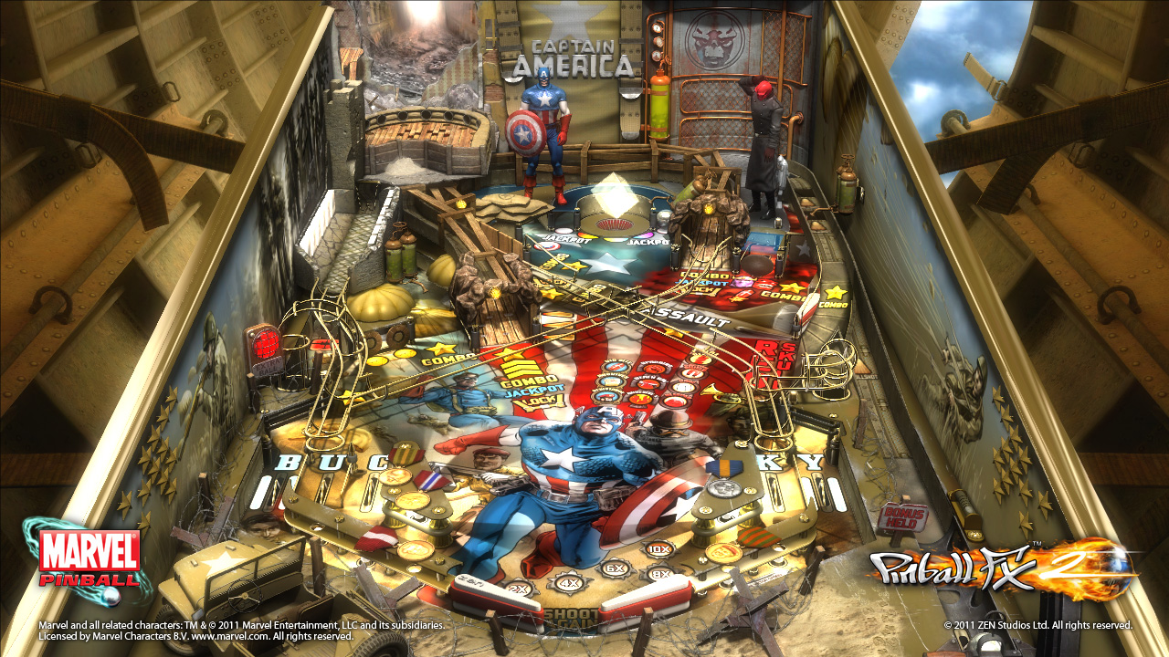 Captain America Pinball FX 2 table review (XBLA DLC)