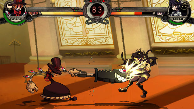 Skullgirls footage has girls and animated chaos