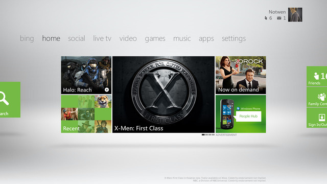 Here's your new Xbox 360 Dashboard