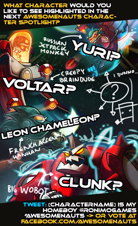 Awesomenauts wants fans to decide next character spotlight