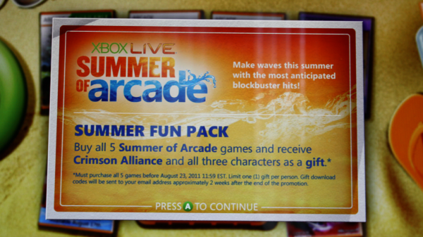 Crimson Alliance codes out now from the Summer of Arcade promotion