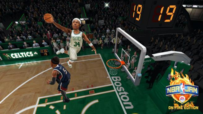 NBA Jam: On Fire Edition bringing it downtown on October 5