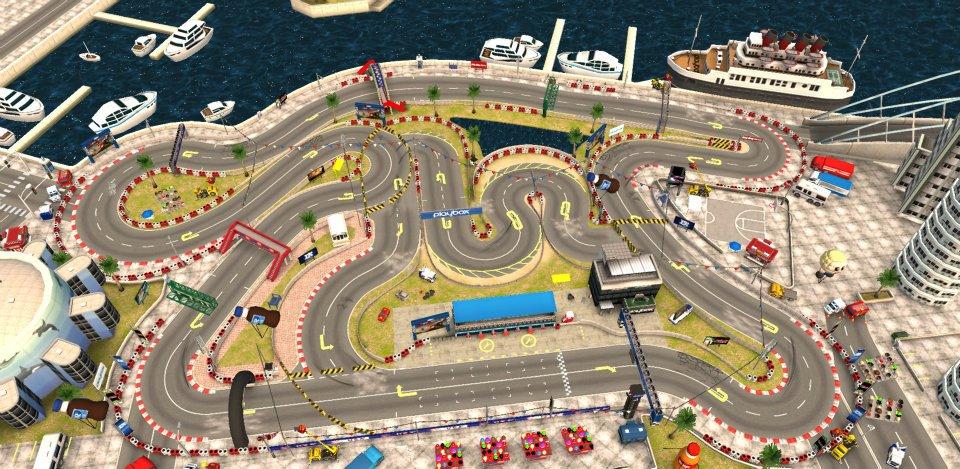 Bang Bang Racing showcases varied tracks, environments