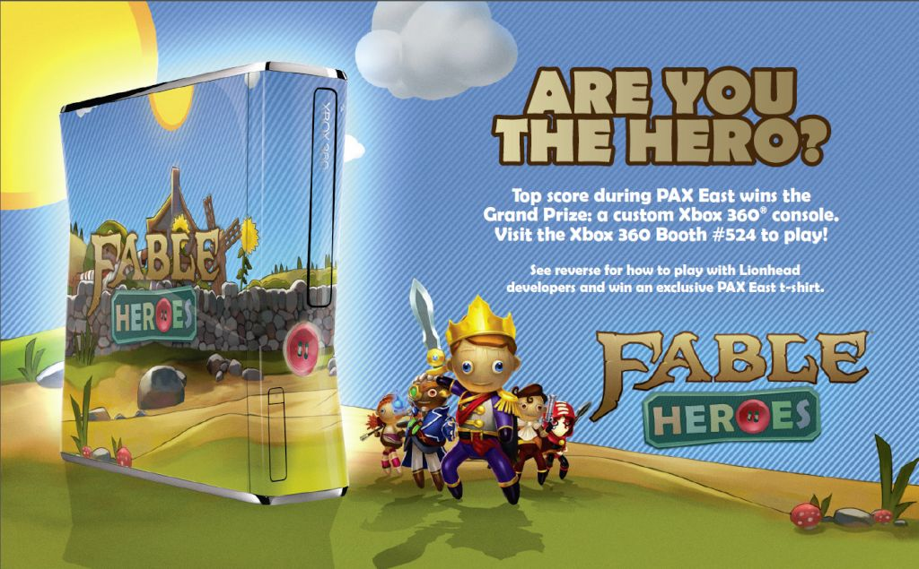 Beat Lionhead's score in Fable Heroes at PAX East and win swag!