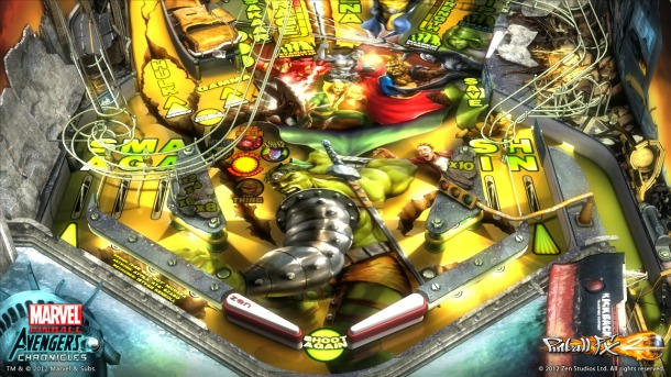 Take a peek at the Hulk table in Pinball FX 2