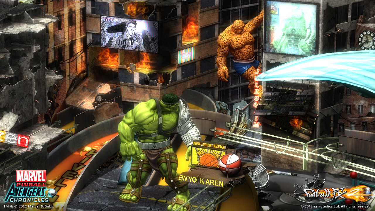 See the new Hulk table for Pinball FX 2 in action