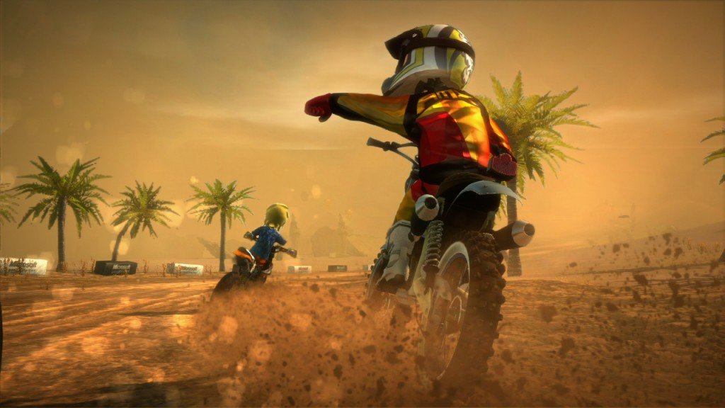Motorcross Madness combines open world exploration with closed course racing