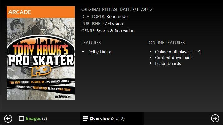 Rumor: Tony Hawk's Pro Skater HD releasing on XBLA July 11