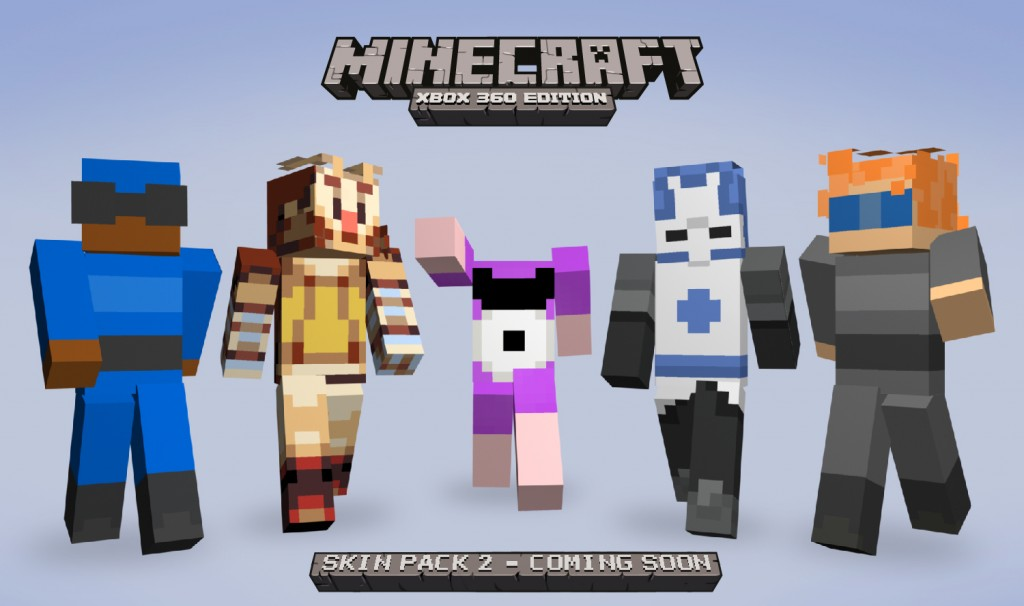 Minecraft Skin Pack 2 adds many more gaming stars
