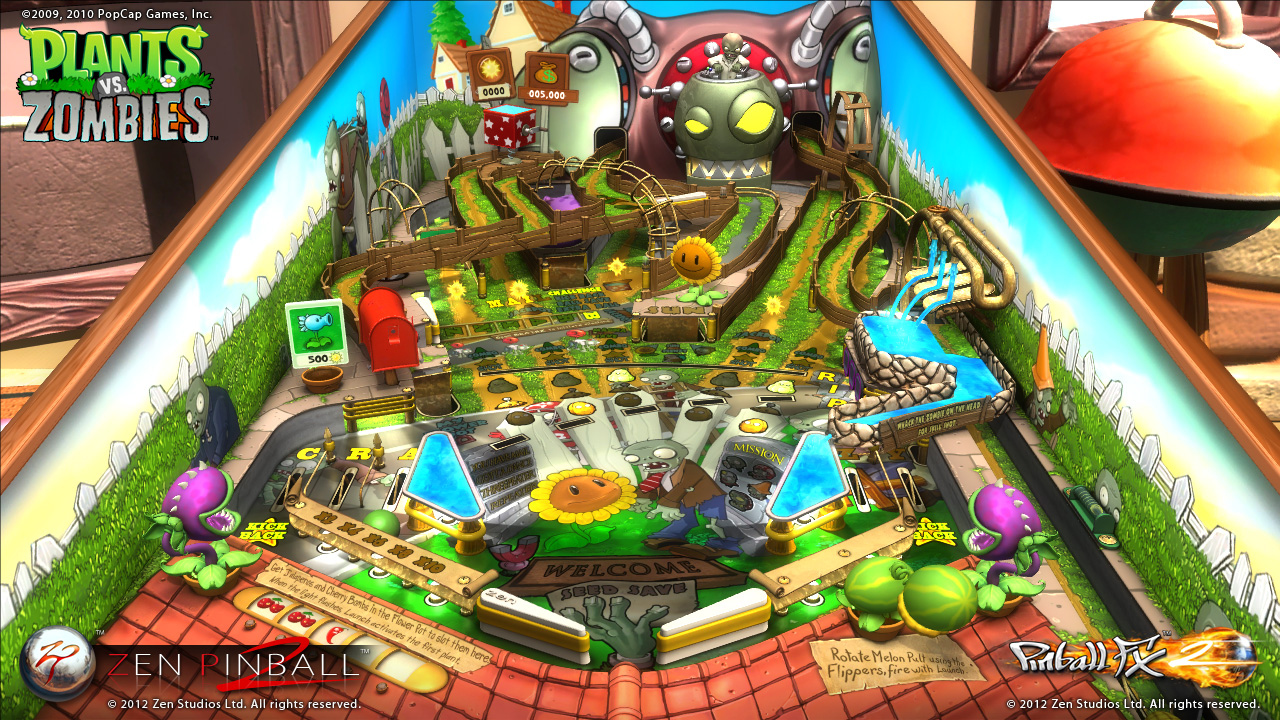 Wednesday Night Streaming: Pinball FX2 Plants vs Zombies Table