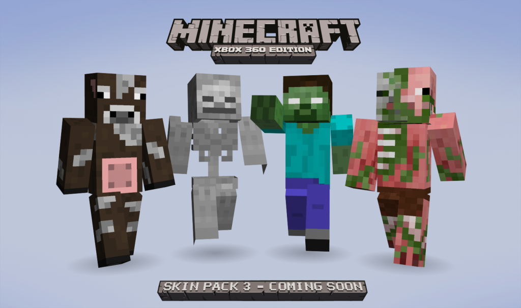 Third Minecraft skin pack announced *UPDATE*