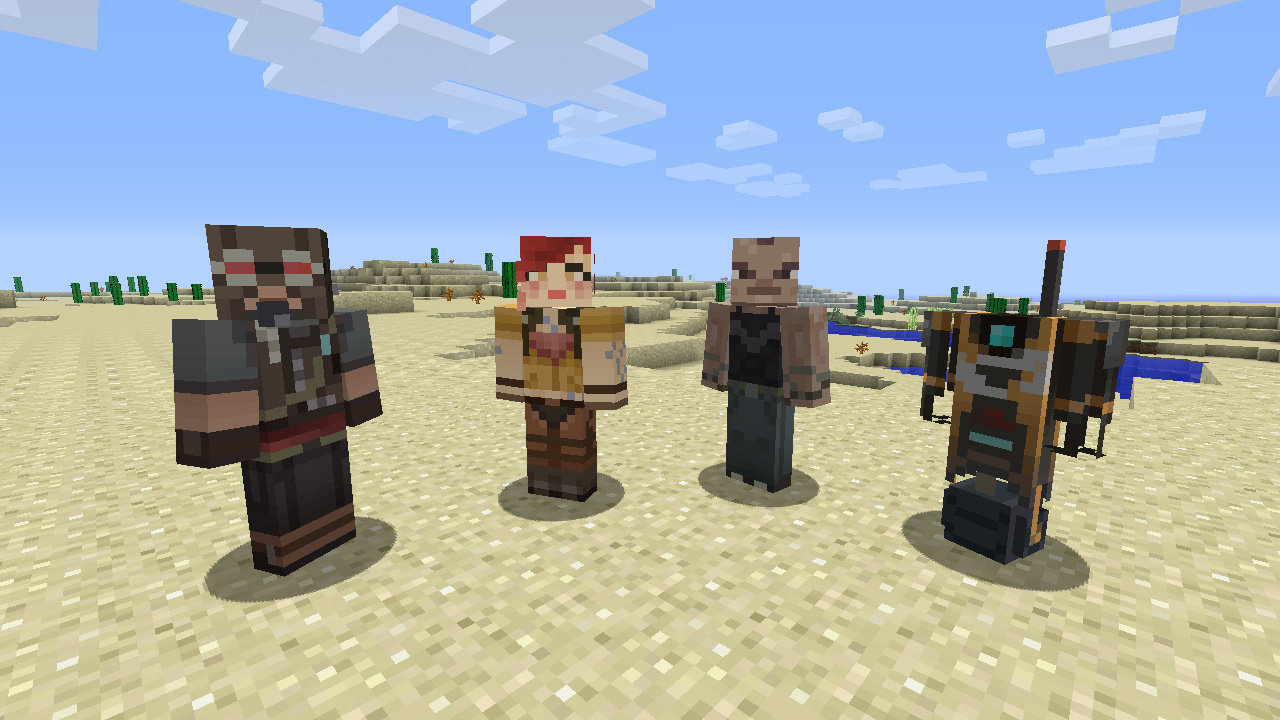 Assassin's Creed and Borderlands skins coming to Minecraft in Skin Pack 4