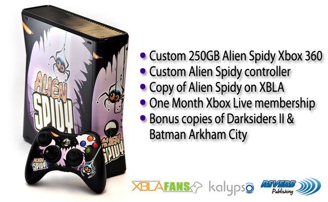 Win a custom 250GB Alien Spidy Xbox 360 console & more!