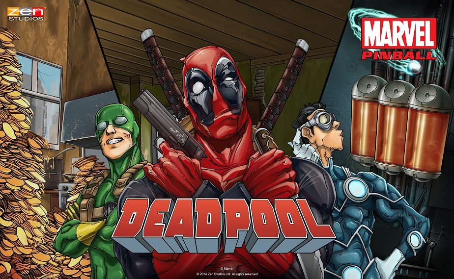 Deadpool pinball table from Zen releases on Xbox 360 tomorrow