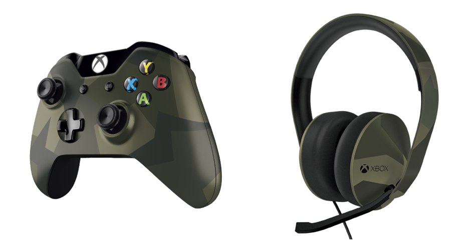 Camouflage Xbox One controller and headset available for pre-order
