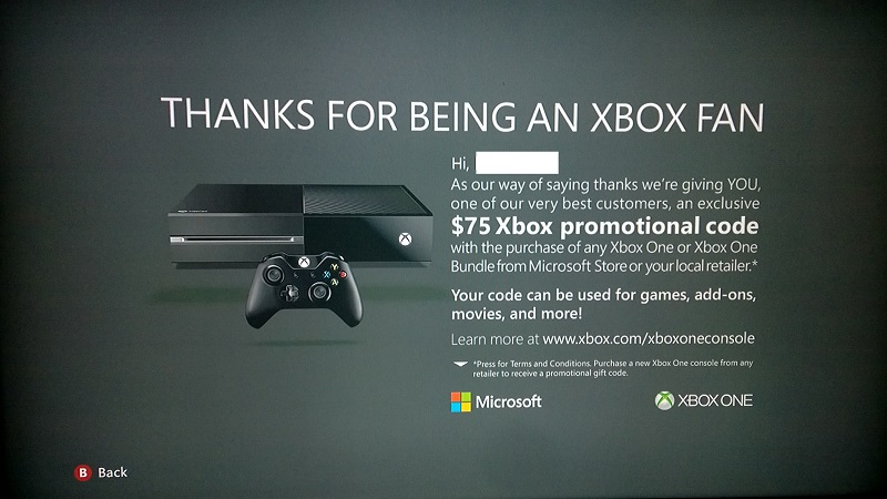 Microsoft is offering $75 upgrade rewards to some Xbox 360 users