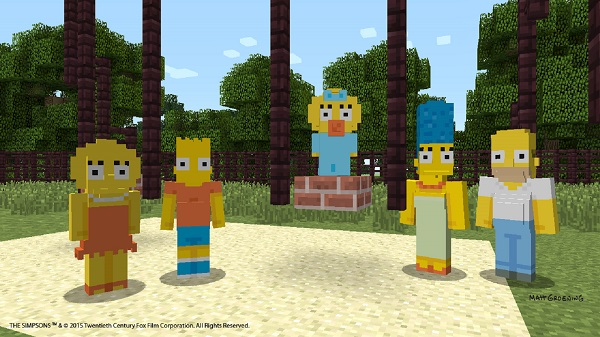 The Simpsons coming to Minecraft in February