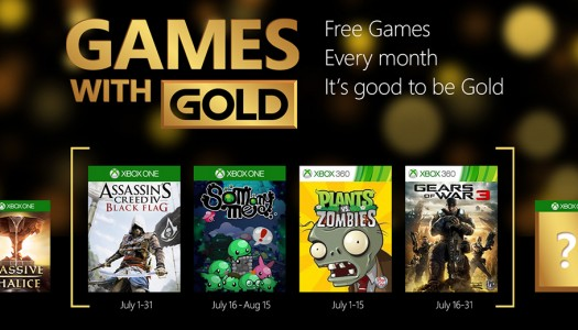 Games With Gold program includes two Xbox One games per month starting in July