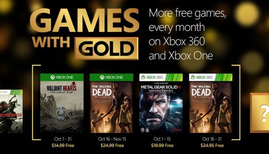 Microsoft announces October's Games With Gold titles