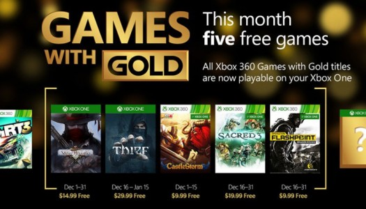 December Games with Gold revealed