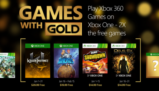 January Games with Gold titles announced