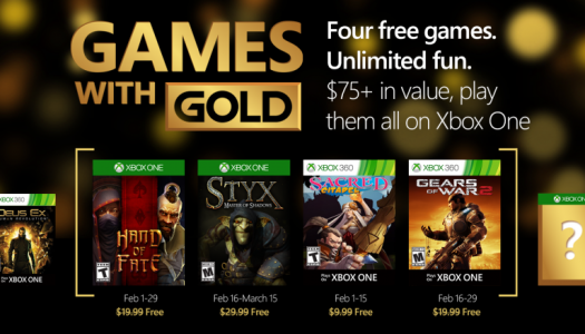 February's Games with Gold titles revealed