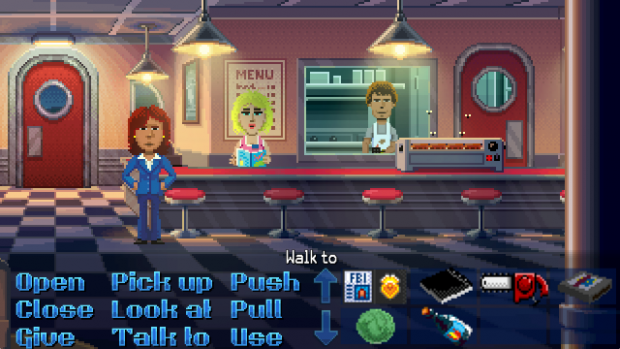 Thimbleweed Park FBI Agent in Diner