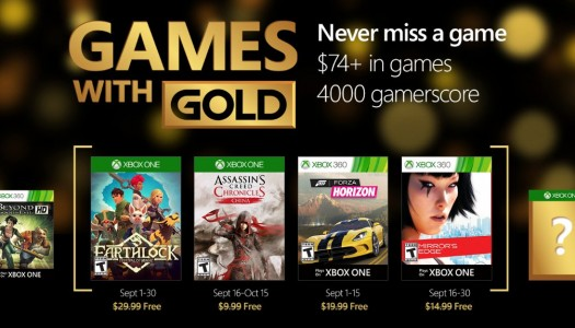 Games with Gold for September now confirmed