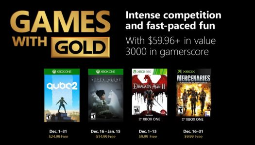 December 2018 Games with Gold Titles Announced